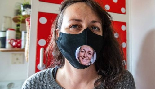 Taranaki woman finds way to bring smiles out from behind face masks