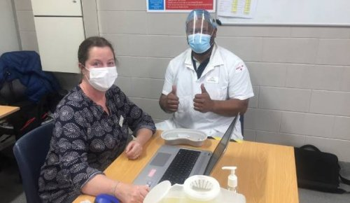 Smithfield meatworkers get their Covid-19 jab at special night clinic