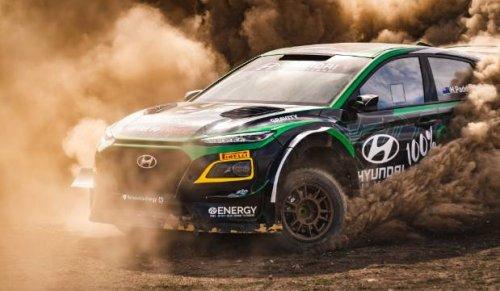 Hayden Paddon shows off revolutionary electric rally car at Waimate 50 hill climb