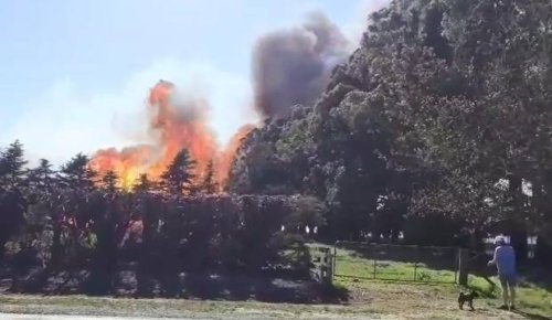 Fire crews halt Prebbleton blaze, as South Island hit by gale force winds