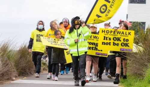 Hope Walk takes place just ahead of the bad weather
