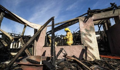 Neighbour braves burning house to save six-year-old girl
