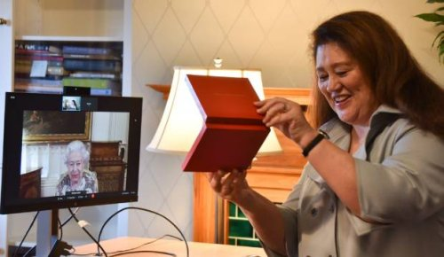 The Queen invests Dame Cindy Kiro with the traditional Insignia of the Governor-General in video call
