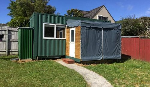 Aspiring landlord says more people should set up container homes for rent in their backyards
