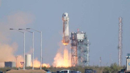 Star Trek actor William Shatner blasts off into space
