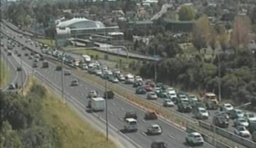 Auckland traffic live: Northern motorway congested heading towards city
