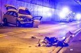 Unfall in Stuttgart: Autofahrer nach Aufprall gegen Tunnelwand lebensgefährlich verletzt