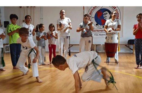 Capoeira in Schmiden: 80 Kinder beim TSV im Training