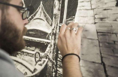 """Vernissage """"To The Point"""": Kunstausstellung als Chance für Moritz Dümmel"""