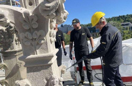 Reinigung in Stuttgart-West: Warum Kärcher die Fassade der Johanneskirche putzt