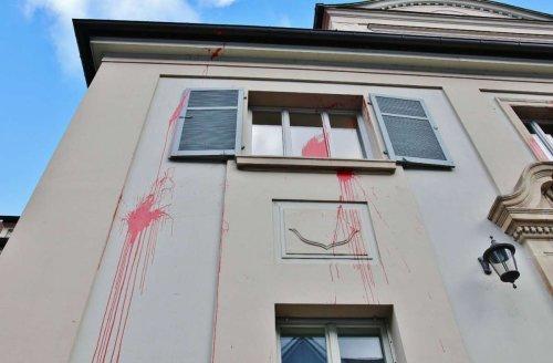 Farbanschlag auf Amtsgericht Waiblingen: Linksextremisten bekennen sich