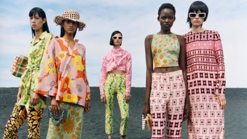 Zara's New Matching Sets Are Covered In Swirly Retro Prints