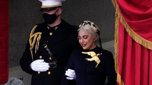 Lady Gaga Looks Straight Out Of The 'Hunger Games' At The Inauguration
