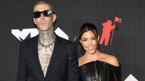 Kourtney Kardashian Chose These Inky Black Nails for Her Engagement to Travis Barker