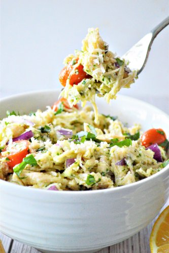 Low Carb Pesto Chicken Salad