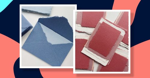 How to recycle scrap paper to make beautiful cards and envelopes from scratch