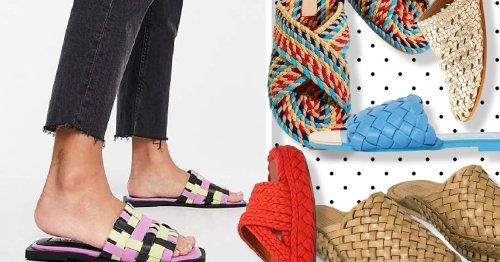 7 pairs of woven slides for easy hot weather dressing