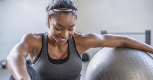 Try these stability ball exercises to strengthen your whole body