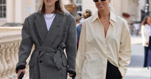 Oversized shirts are what the fashion set are loving at London Fashion Week