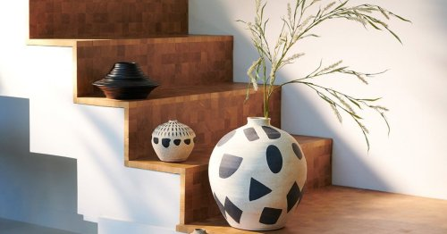 These abstract pots will add an artsy flair to your home