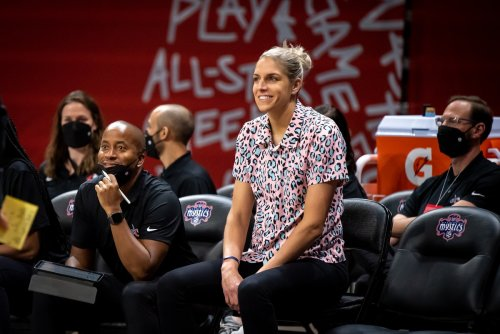 Elena Delle Donne returns to practice for the Washington Mystics