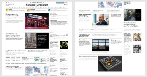 Tracking the front page of the New York Times