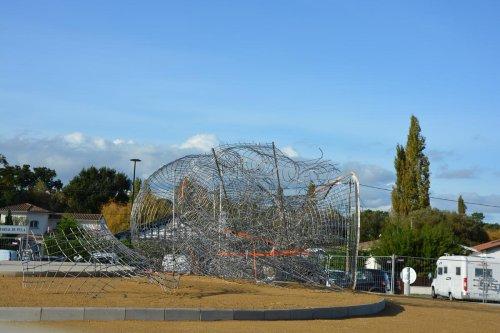 La Teste-de-Buch : la statue de Casto Solano s'installe