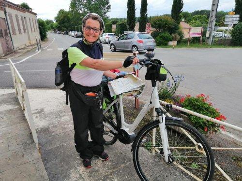 Son tour de France solidaire est passé par Sérignac-sur-Garonne