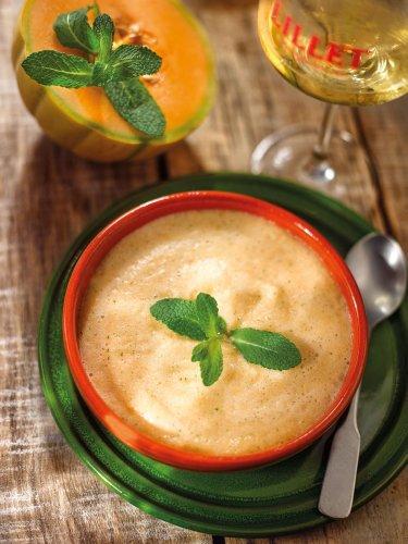 La recette de l'été : soupe de melon au Lillet et à la menthe fraîche