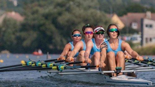 Rame : le quatre de couple seniors féminin de l'Aviron Bayonnais champion de France