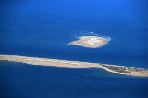 En images. Bassin d'Arcachon : le banc d'Arguin vu du ciel