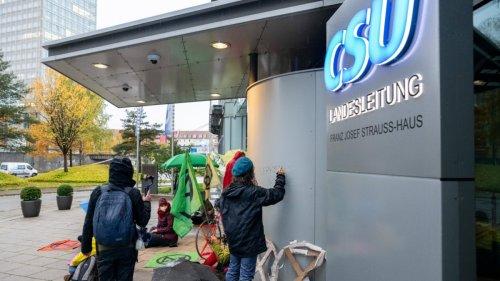 CSU-Zentrale bemalt: Klimaaktivistin droht hohe Strafe