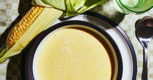 Rezept für Maiscremesuppe mit Safranfäden