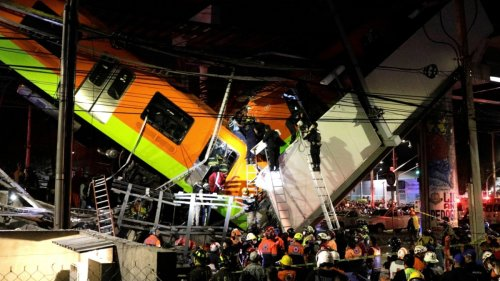 Mexiko:Tote bei Einsturz einer U-Bahn-Brücke