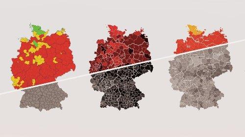 Coronavirus-Grafiken: Wo Deutschland Rot ist
