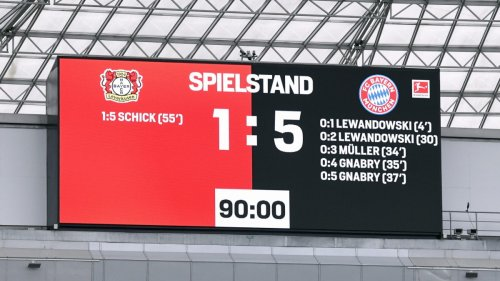 5:1 bei Bayer Leverkusen:Bayern-Grusel