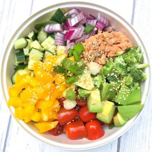 Canned Salmon Salad No Mayo (Keto, Low Carb, Paleo)