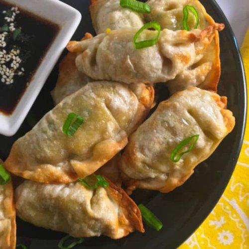 Air Fryer Pot Stickers (Frozen Dumplings + Gyoza + Wontons)
