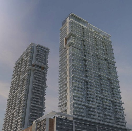 Two towers — at 42 and 45 stories — would rival Fort Lauderdale's tallest buildings
