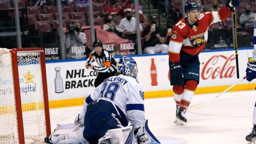 Panthers top Lightning in regular-season finale, secure home ice in first round of playoffs