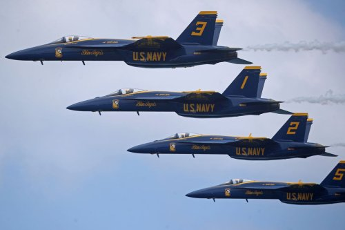 Something was missing when the Blue Angels roared into Fort Lauderdale