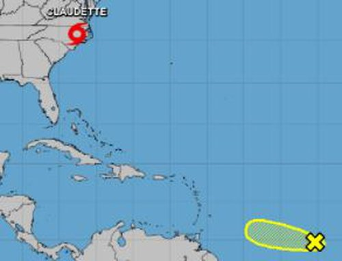 New tropical wave emerges in Atlantic; Tropical Storm Claudette forms again