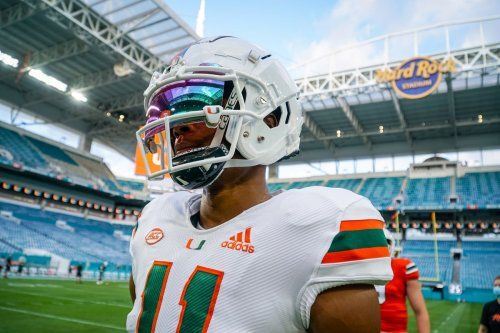 Transfer WR Charleston Rambo building chemistry with D'Eriq King, even as Hurricanes QB rehabs