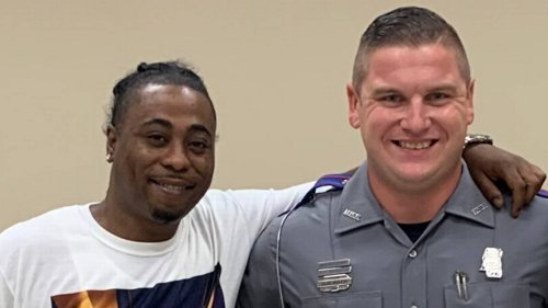 A MS trooper pulled over a New Orleans man for speeding. The stop ended with a hug.