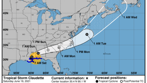 Latest Tropical Storm Claudette briefing gives prediction for tornadoes in SC Midlands