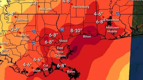 Which MS Coast counties are expected to see most rain from potential tropical system?