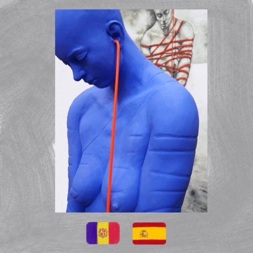 Humans Bound by Technology in the Sculpture and Paintings of Ángel Calvente