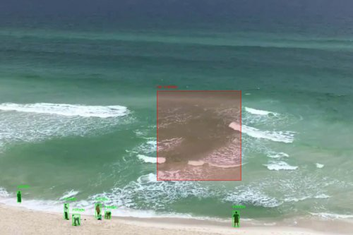 The artificial intelligence technology that detects rip currents
