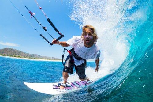 The physics of kiteboarding