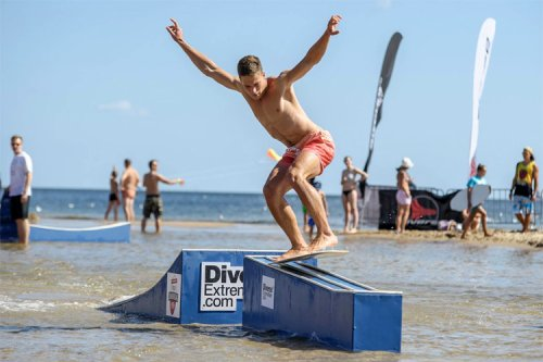 The different types of skimboarding rails